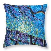 Whisp On A Fence Throw Pillow
