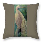 Whisper Of White, Bird  Throw Pillow