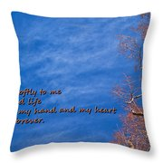 Whisper Softly Throw Pillow