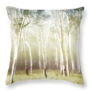 Whisper The Trees Throw Pillow by Holly Kempe