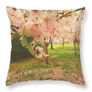 Whispering Cherry Blossoms Throw Pillow