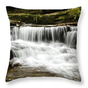Whispering Waterfall Landscape Throw Pillow