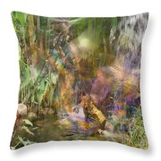 Whispering Waters - Square Version Throw Pillow