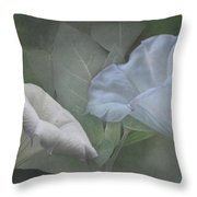 Whispers Of Angel Trumpet Datura Throw Pillow by Angie Vogel