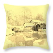 Whispers Of Mabry Mill Throw Pillow