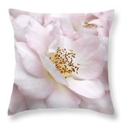 Whispers Of Pink Roses Throw Pillow