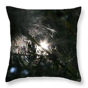 Whisps And Glares Throw Pillow