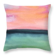 Whispy Pink/organge Sky Throw Pillow