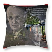 Whistle Stop Tour Throw Pillow
