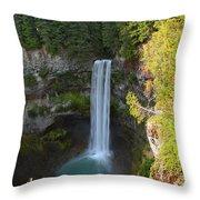 Whistler Bc Waterfall Throw Pillow