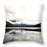 Whistler Lake Bc Throw Pillow