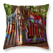 Whistler Train Wreck Throw Pillow