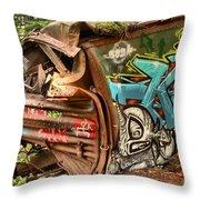 Whistler Train Wreck Stopping Point Throw Pillow