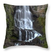 Whistler Waterfalls - Alexander Falls Throw Pillow