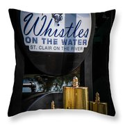 Whistles On The Water Throw Pillow