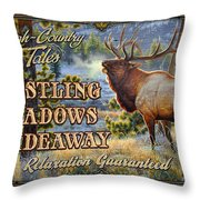 Whistling Meadows Elk Throw Pillow by JQ Licensing