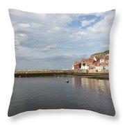 Whitby Abbey N.e Yorkshire Throw Pillow
