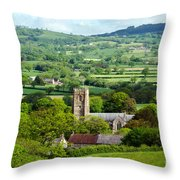 Whitchurch Canonicorum Overview  Throw Pillow