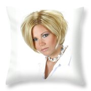 White 11-crop Throw Pillow