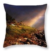 White Adirondacks Throw Pillow