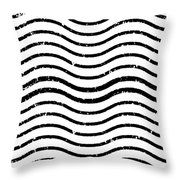 White And Black Postage Throw Pillow