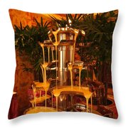 White And Dark Chocolate Fondue Fountain Throw Pillow