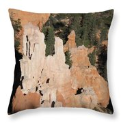 White And Red Rocks Of Bryce Np Throw Pillow