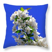 White And Wonderful Throw Pillow by Elizabeth Dow
