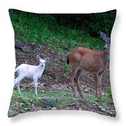 White Angel And Mom II Throw Pillow