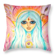 White Angel Throw Pillow