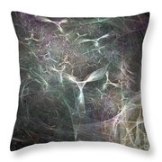White Angels With Tower Throw Pillow