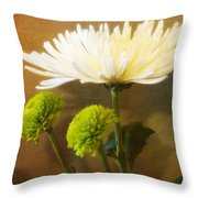 White Autumn Throw Pillow