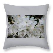 White Azaleas In Bermuda Throw Pillow