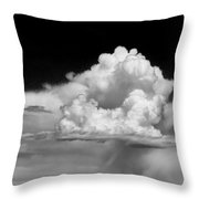 White Billowing Cloud Formation In Montana Throw Pillow