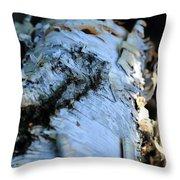 White Birch Log Throw Pillow