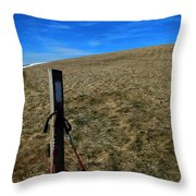 Appalachian Trail White Blaze Post Throw Pillow