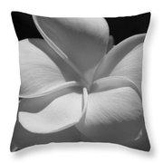 White Bloom B W Throw Pillow