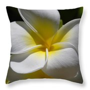 White Bloom Throw Pillow
