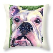 White Boxer Throw Pillow