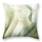 White Calla Moods Throw Pillow
