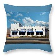 White Castle Throw Pillow by Bruce Lennon