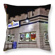 White Castle Throw Pillow