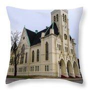 White Cathedral Throw Pillow