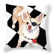 White Chihuahua - Pistachio Throw Pillow