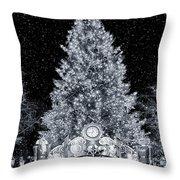 White Christmas In Texas Throw Pillow
