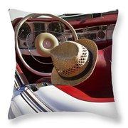 White Classic Mercedes Benz 230 Sl Throw Pillow