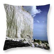 White Cliffs At Birling Gap Throw Pillow