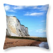 White Cliffs Of Dover Throw Pillow