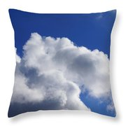 White Clouds Art Prints Blue Sky Throw Pillow