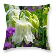 White Columbine Lanterns Verticle Throw Pillow